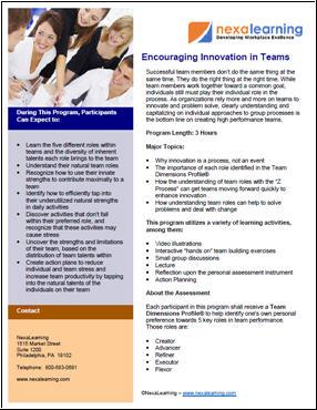 Encouraging Innovation in Teams - NexaLearning