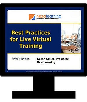 Best Practices for Live Virtual Training - NexaLearning